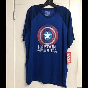 MARVEL/Men's/CAPTAIN AMERICA/XL/T-shirt